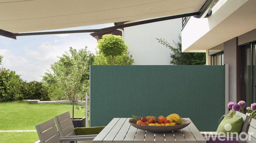 wind und sichtschutz von weinor und bikatec diemer sauter gmbh co kg aus friedrichshafen. Black Bedroom Furniture Sets. Home Design Ideas